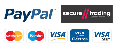 Secure payments taken via PayPal