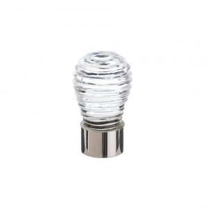 Glass & Nickel Cupboard Knob small