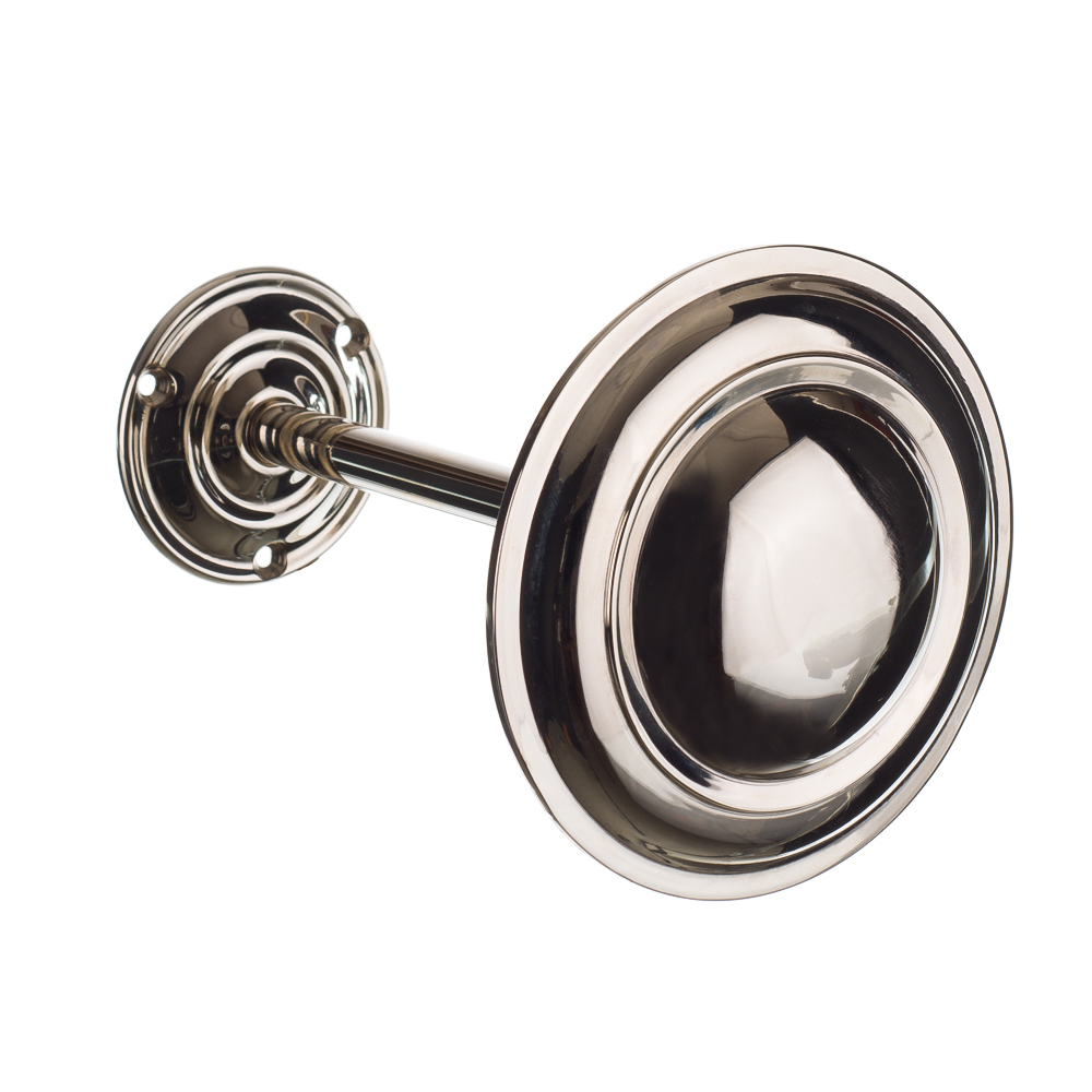 Polished nickel curtain tie back