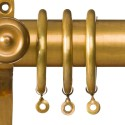 Antiqued Brass Curtain Pole Rings